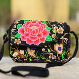 Ethnic Boho Handmade Fabric Embroidery Crossbody Bag