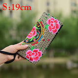 Vintage Flower Ethnic Boho Ladies Hand Embroidered Clutch