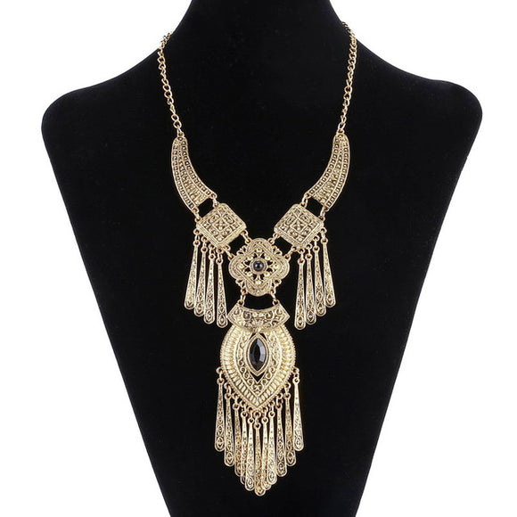 Bohemian Choker Collar Necklace Vintage Tassel Necklace