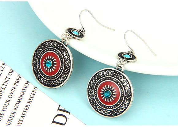 Bohemian Acrylic Flower Drop Earrings
