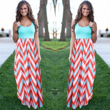 Stripped Boho Maxi Dress