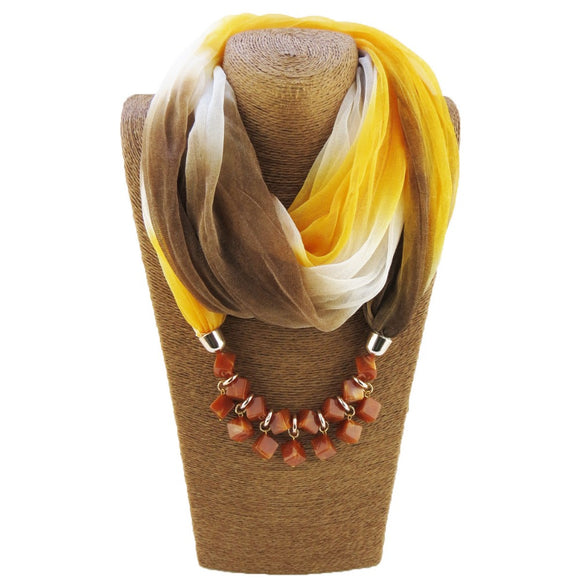 Bohemian- Choker Silk Scarf Necklace