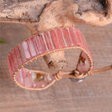 Boho Watermelon Leather Wrap Bracelet