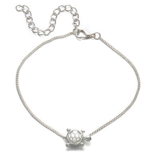 Sea Turtles Single Layer Anklet