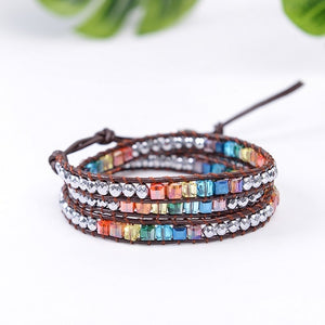 Handmade Crystal Beads Natural Stone Bracelet