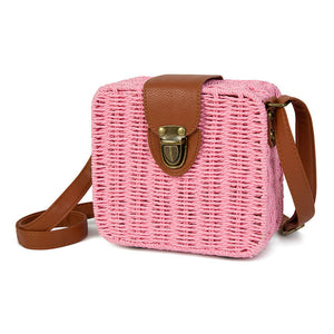 Bohemian Square Straw Rattan Bag