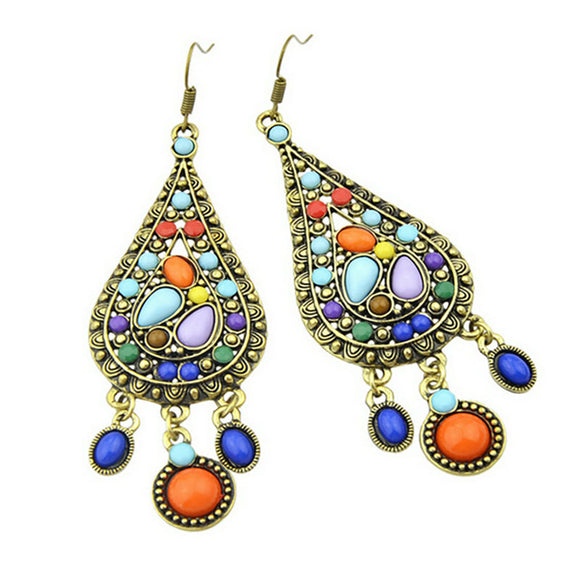 Bohemian Multicolor Resin Earrings