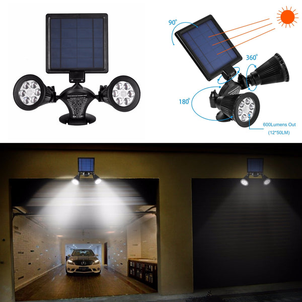 Motion Sensor Solar Light Twin Spotlight | FREE SHIPPING