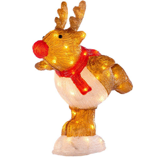 Skating Reindeer, 56 LED Lights, Multi-Colour, 39cm