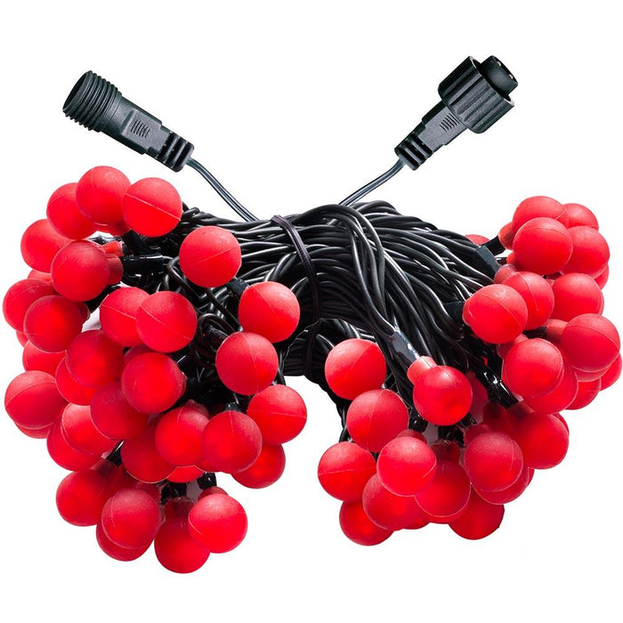 100 LV Connectable Chasing Christmas Berry LED Light String, Red, Multi Colour