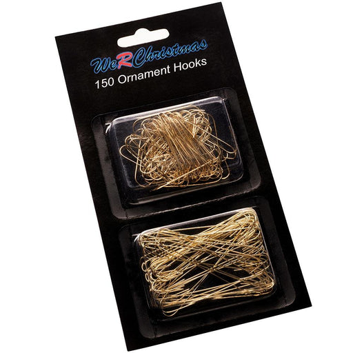 Bauble Ornament Hooks Multi Pack Gold, Pack of 150