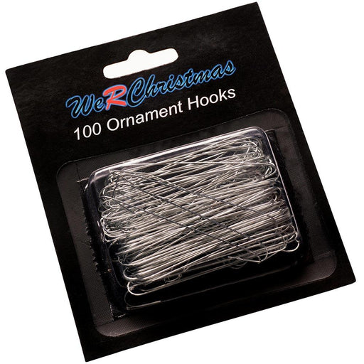 Bauble Ornament Hooks, Silver 6cm, Pack of 100
