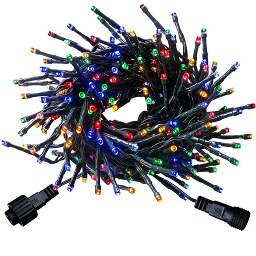 600 LV Connectable Chasing Christmas Cluster LED Light String, Multi Colour
