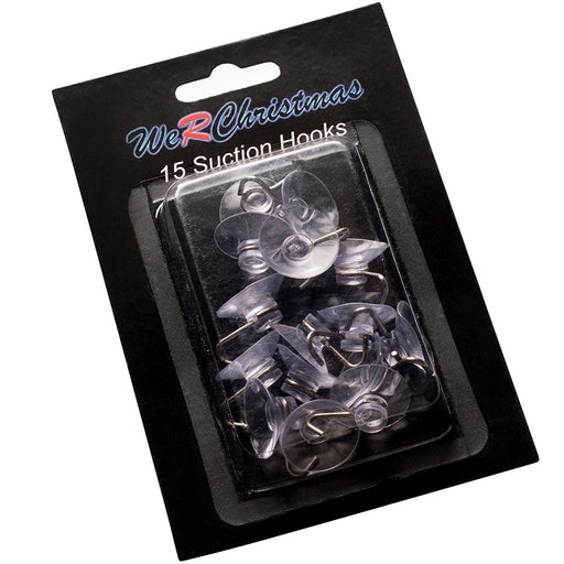 Multipurpose Suction Clips With Hook, Pack of 15
