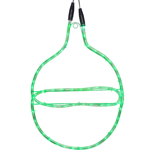 LV Connectable Static Christmas Bauble Rope Light Silhouette, Green