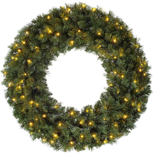 Pre-lit Majestic Wreath, Multi Function LED Lights, 100cm