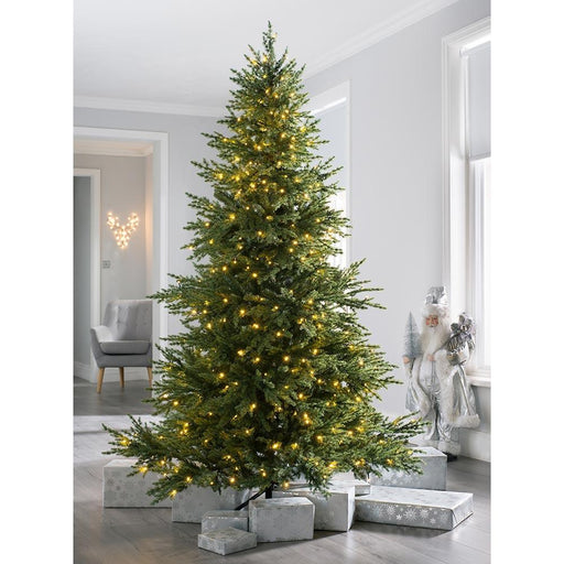 Pre-lit Traditional Fir Multi-Function Christmas Tree, 450 Chasing Warm LED 7 Feet