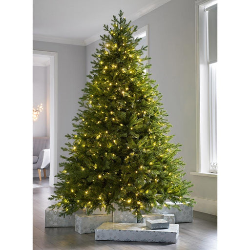 Pre-lit Windsor Fir Multi-Function Christmas Tree with 700 Multi Dual LED Lights, 8 feet/2.4 m