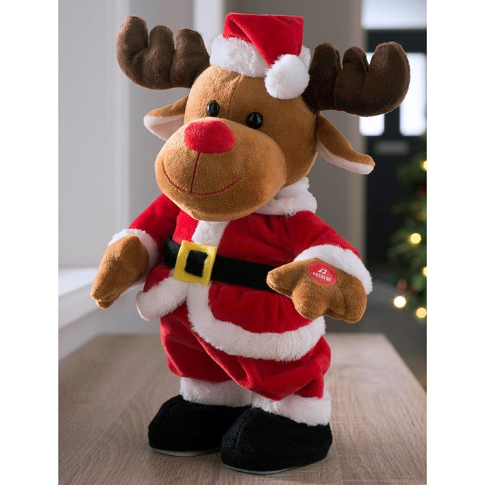 Dancing Reindeer Multi Colour, 31 cm