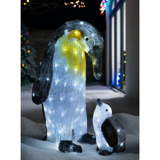 Penguin Parent & Child Chris120 LED lights, Multi-Colour, 51cm / 21cm