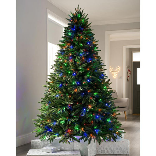 Pre-lit Grand Alaskan Fir Multi-Function Christmas Tree with 600 Multi DualLED Lights, 8 feet/2.4 m