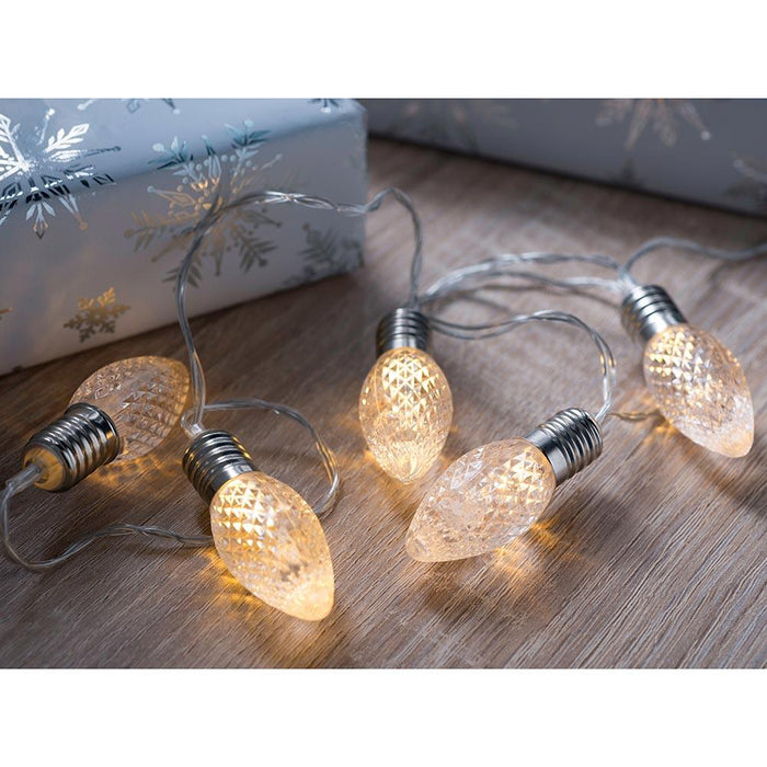20 Cone LED Light String Christmas Decoration, Clear, 3m