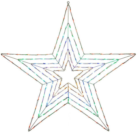 Pre-Lit Multi Function LED Star with Memory Controller - 118 cm, Multi-Colour