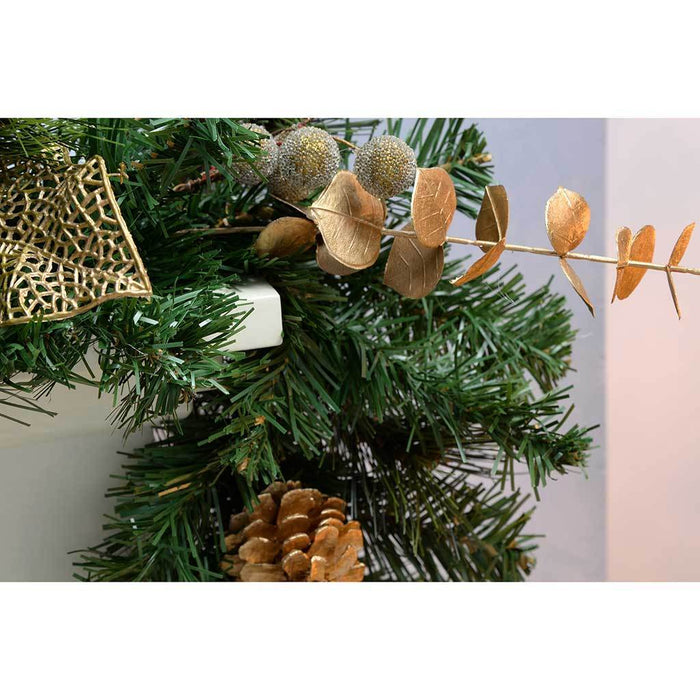 6 ft Decorated Garland Christmas Decoration, Cream/ Gold
