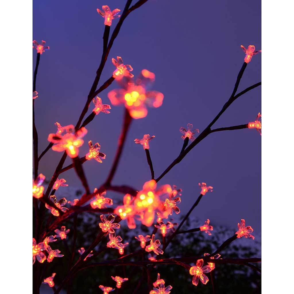 Pre-Lit 200 LED Illuminated Cherry Blossom Tree, 5 ft/ 1.5 m - Red