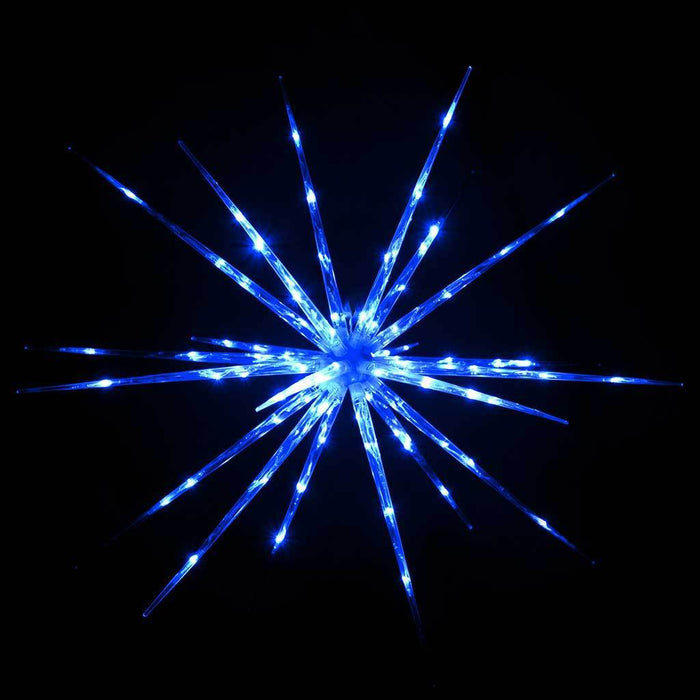 100 cm Large Multi-Functional 3D Exploding Star Burst Christmas Decoration, Blue/ White