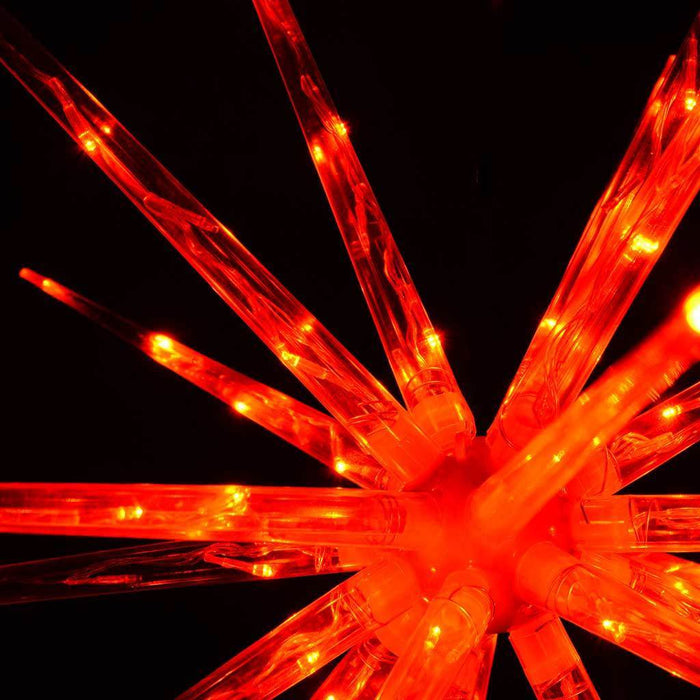 100 cm Large Multi-Functional 3D Exploding Star Burst Christmas Decoration, Red
