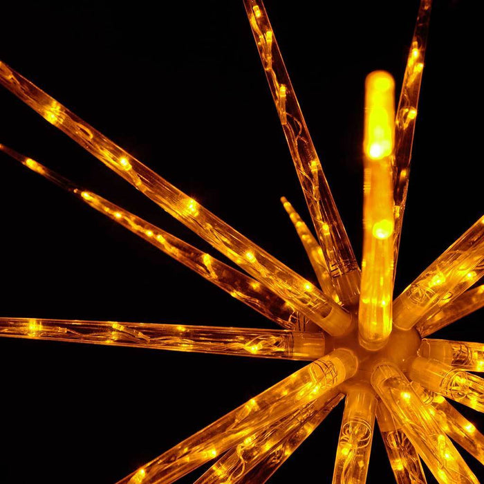 100 cm Large Multi-Functional 3D Exploding Star Burst Christmas Decoration, Yellow
