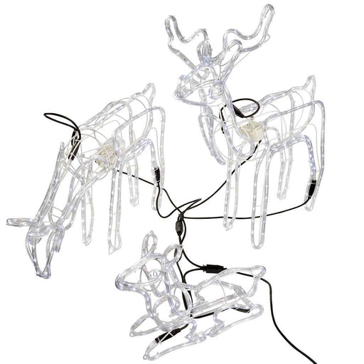 Pre-Lit Large 3D Animated Reindeer Family Christmas Silhouette Light