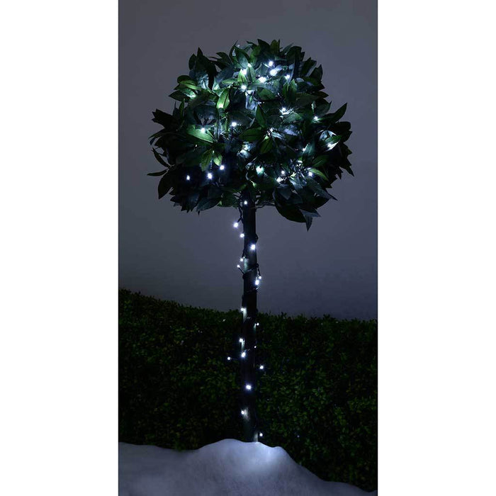 200 LED Christmas Tree Lights String with Chasing/ Static Settings with 19 m Cable, White