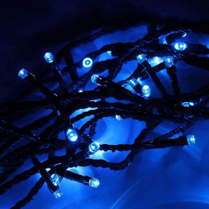 200 LED Christmas Tree Lights String with Chasing/ Static Settings with 19 m Cable, Blue