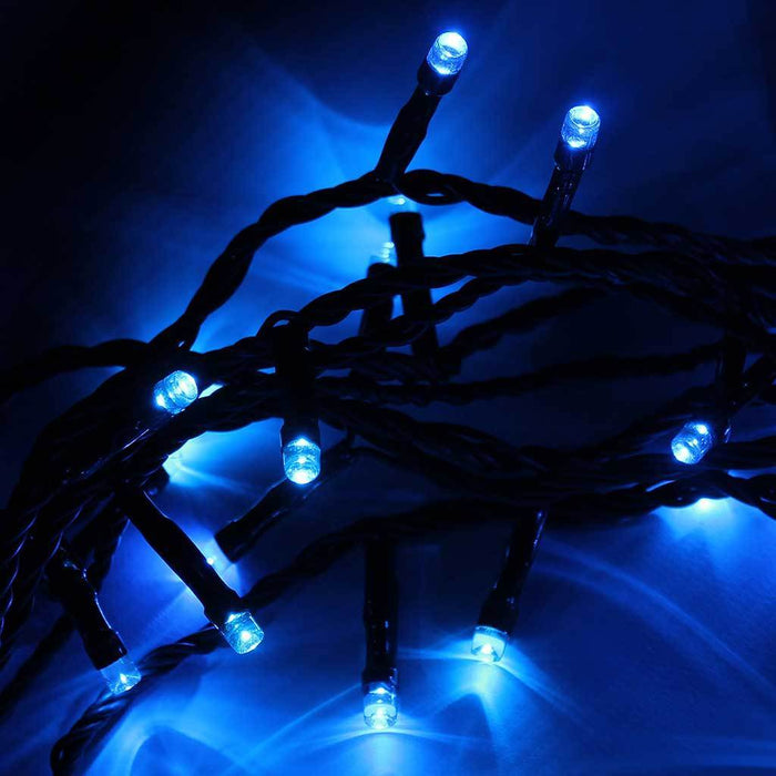 80 LED Christmas Tree Lights String with Chasing/ Static Settings with 10.6 m Cable, Blue