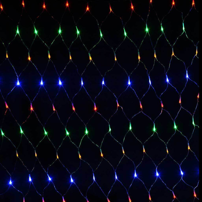 1.8 x 1.2 m Chasing/ Static Curtain Net Christmas Lights with 180 LEDs, Multi-Colour