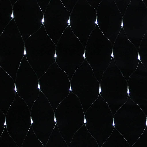 1.8 x 1.2 m Chasing/ Static Curtain Net Christmas Lights with 180 LEDs, White | WeRChristmas