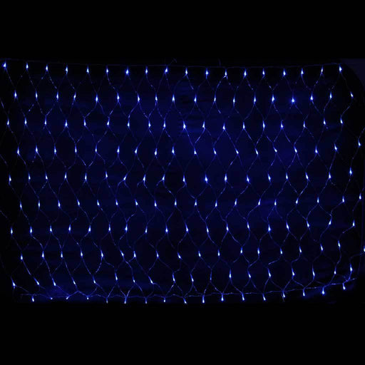 1.8 x 1.2 m Chasing/ Static Curtain Net Christmas Lights with 180 LEDs, Blue