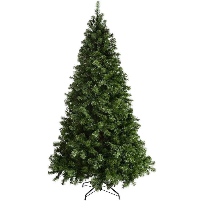 WeRChristmas Pre-Lit Spruce Multi-Function Christmas Tree with 300 Warm White LED Lights, 7 ft/2.1 m