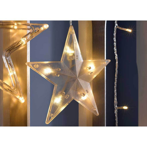 Star Flashing Chasing Window Curtain Net Lights with 168 LED, 2 m - Warm White