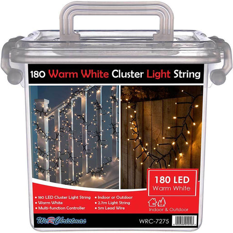 180-LED Chasing Cluster Light String, 2.7 m - Warm White