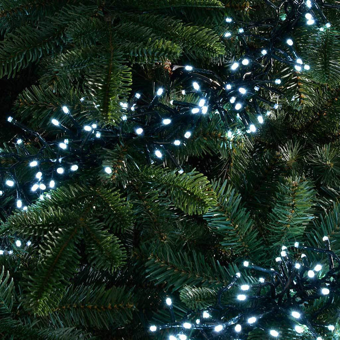240-LED Chasing Cluster Light String, 3.6 m - Bright White