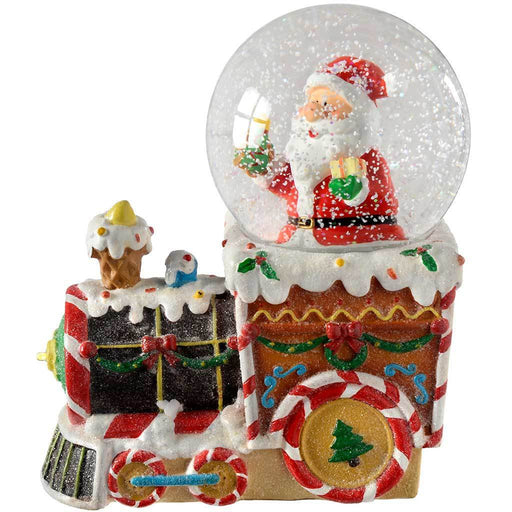 Santa on Train Colour Changing Snow Globe, 16 cm - Multi-Colour