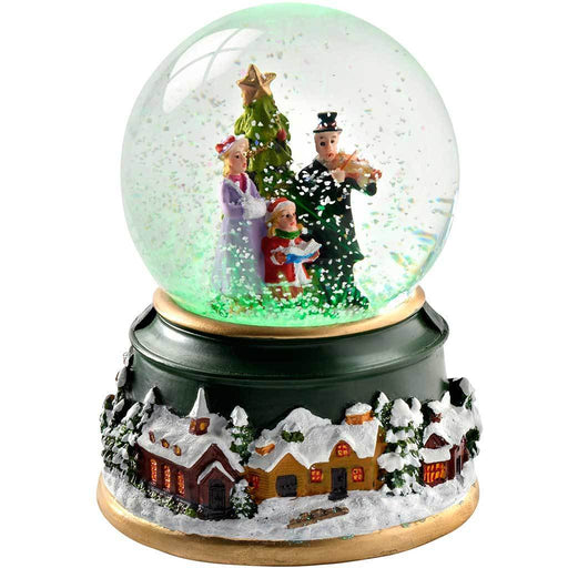 Christmas Carollers Colour Changing Snow Globe, 12.5 cm - Multi-Colour