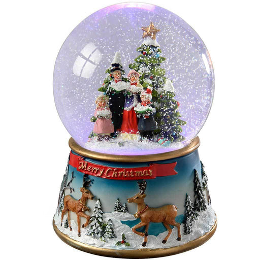 Carol Singer Colour Changing Snow Globe, 19.5 cm - Multi-Colour