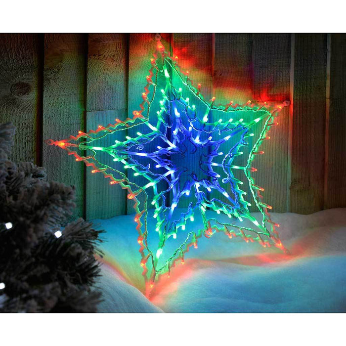 100-LED Star Silhouette with Chasing and Static Settings - Multi-Colour