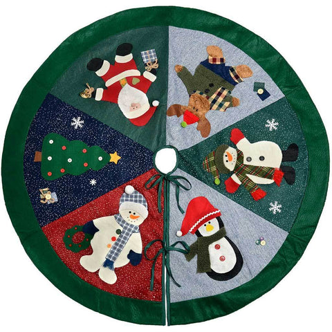 Christmas Character Tree Skirt Decoration, 120 cm - Large, Multi-Colour