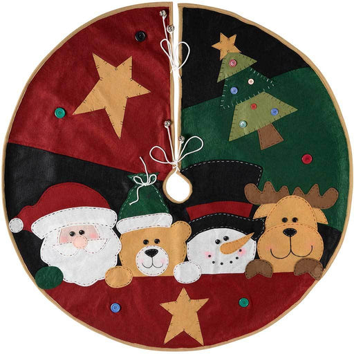 Christmas Character Tree Skirt Decoration, 102 cm - Large, Multi-Colour