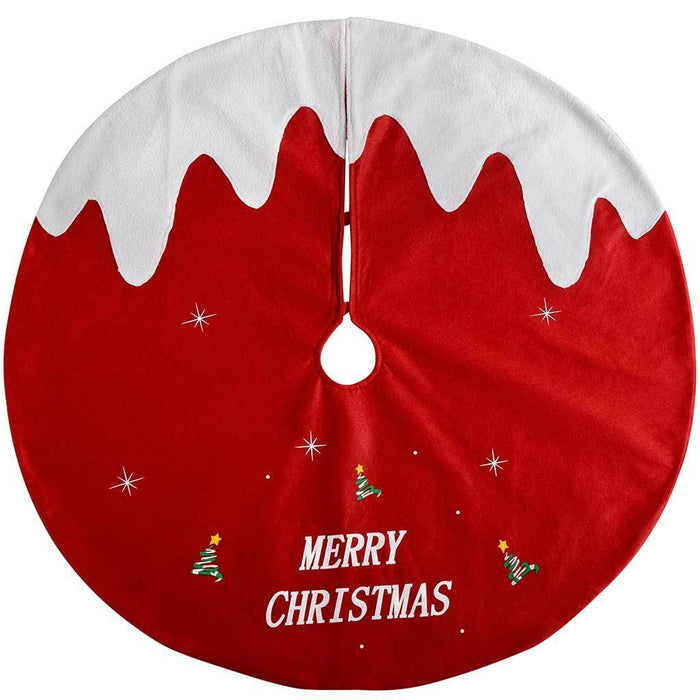 Christmas Pudding Tree Skirt Decoration, 102 cm - Large, Red/White | WeRChristmas